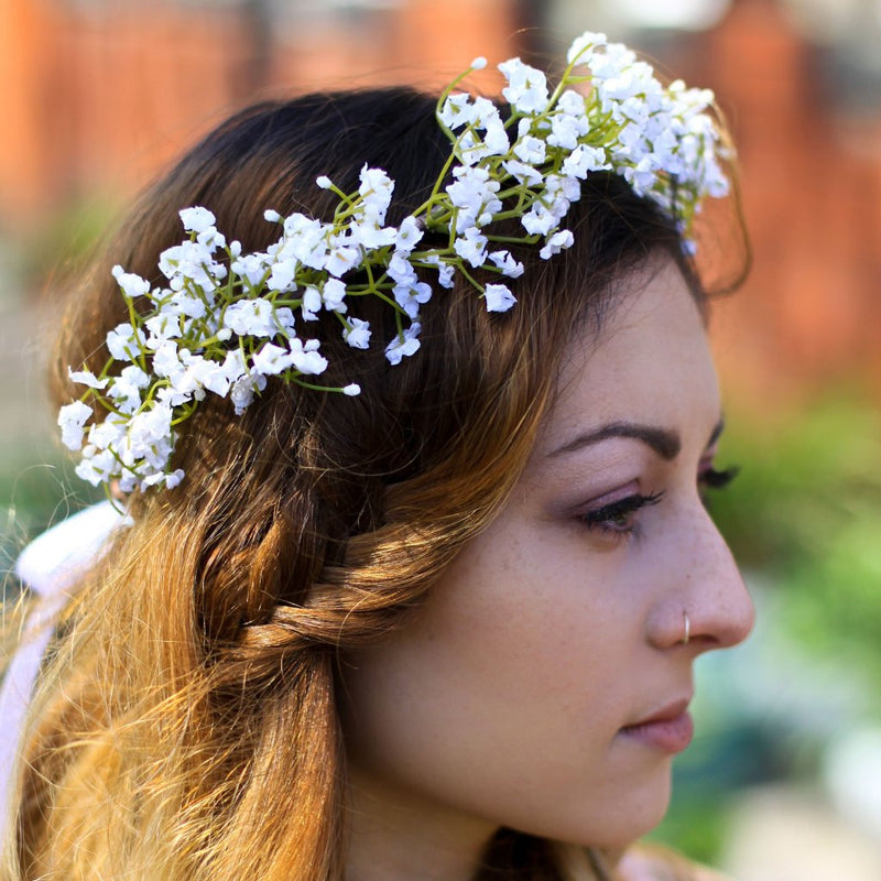 MADELINE Gypsophila Flower Crown Babys Breath