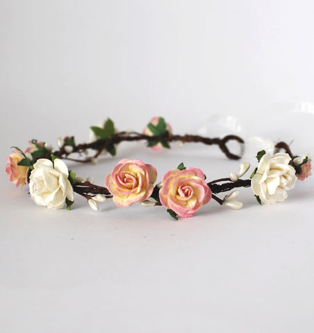 COCO Floral Crown Champagne pink