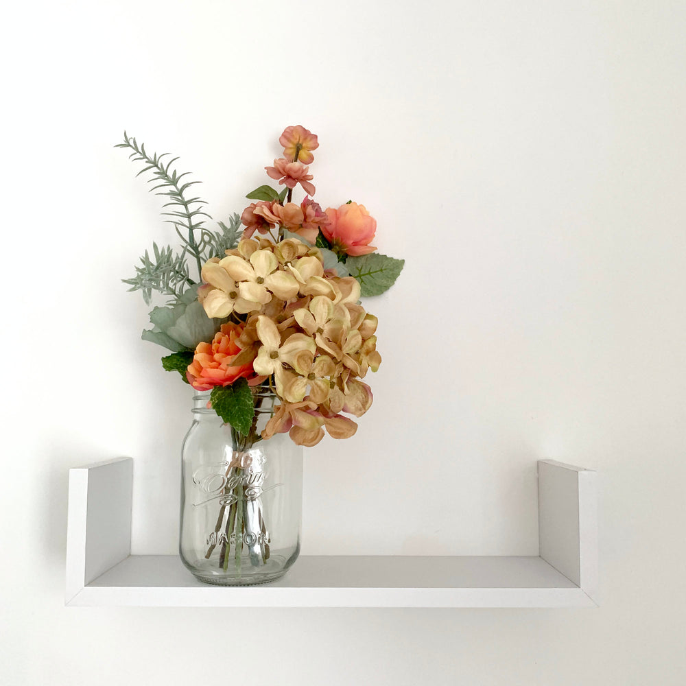 Load image into Gallery viewer, Faux floral bouquet in vase