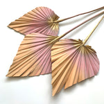 Dried Palm Spears - Soft blush and gold