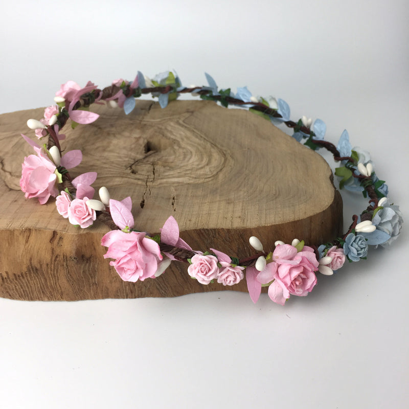 gender reveal flower crown