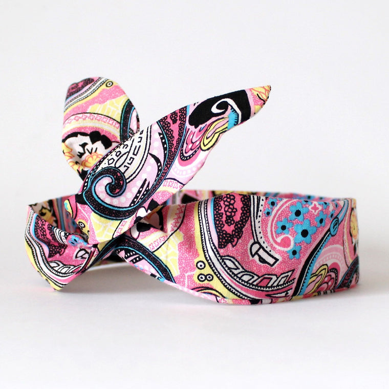 Black Paisley Dolly Bow