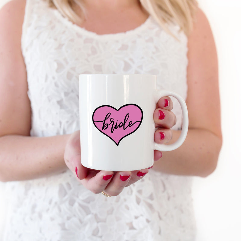 Bride in Pink Heart Mug