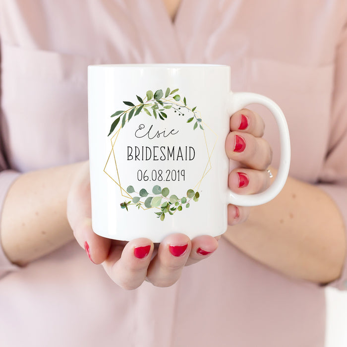 bridesmaid mug wedding day gift