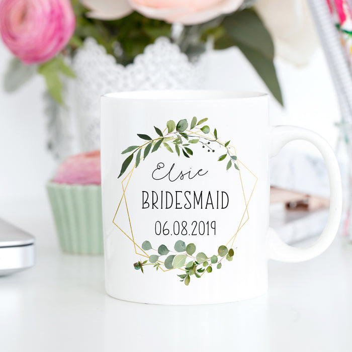 bridesmaid gift wedding day mug