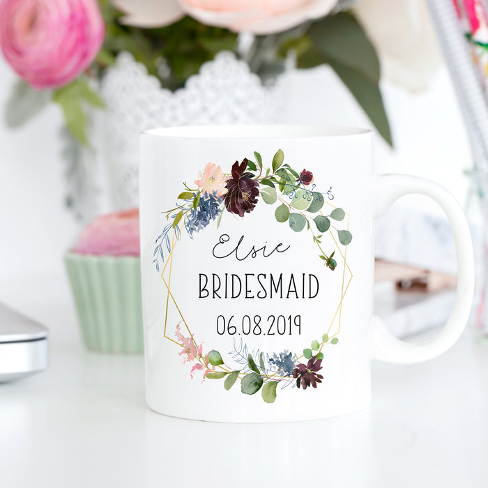 personalised bridesmaid mug thank you wedding gift