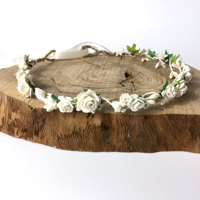 flower crown for wedding ivory