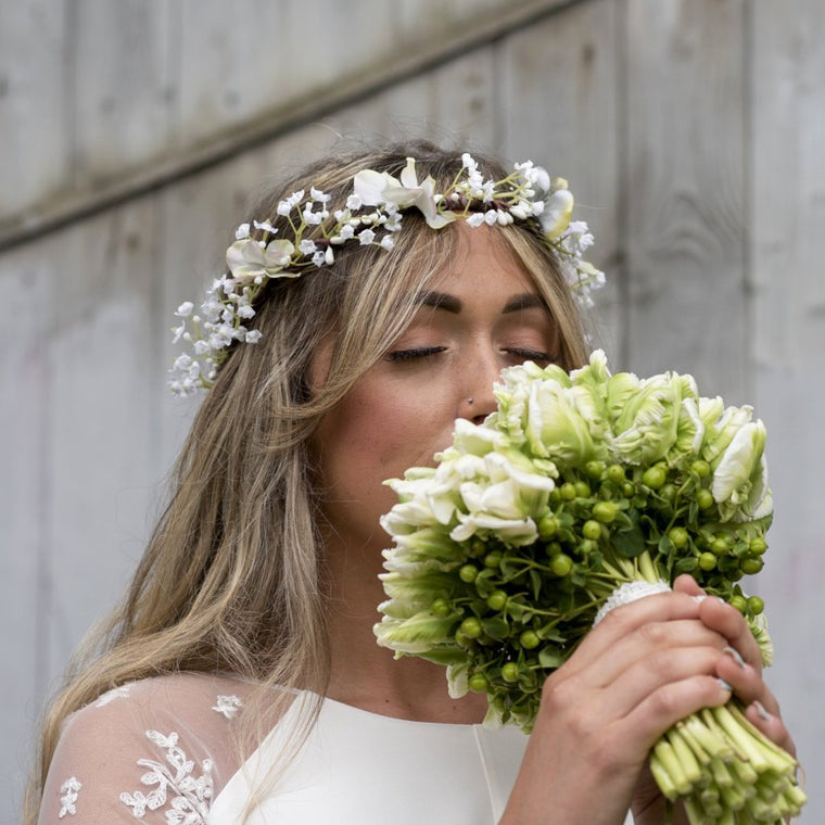 CHLOE Hydrangea and Gypsophila Flower Crown
