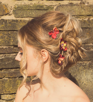 autumn wedding hair clips