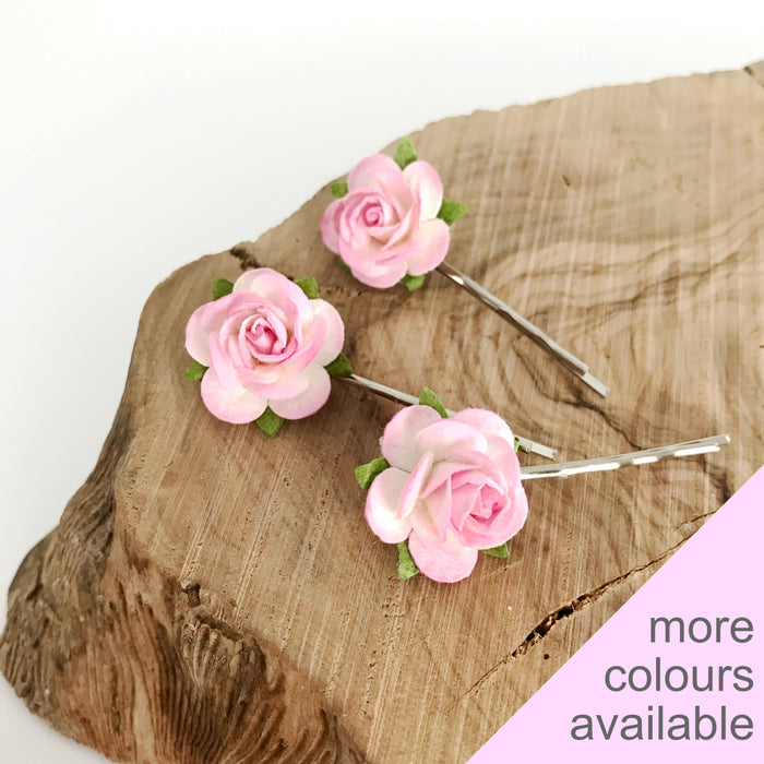 DANI Mulberry Rose Hair Clips