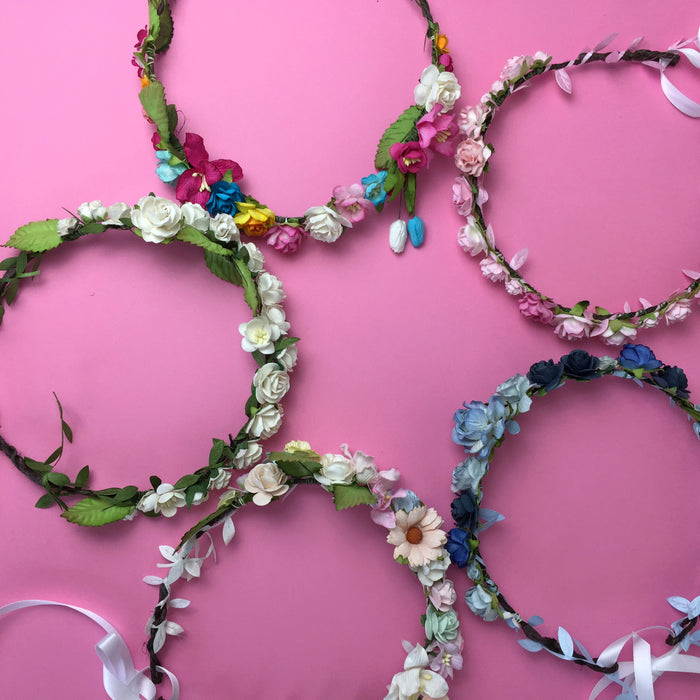 DIY flower crown kit creative activity for hen party