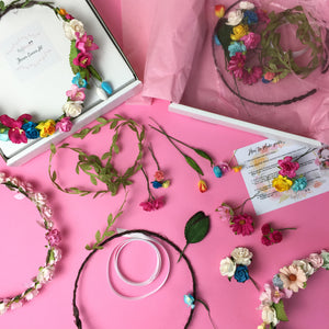 make your own flower crown hen night
