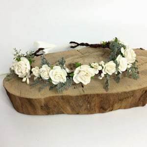 boho wedding rustic flower crown
