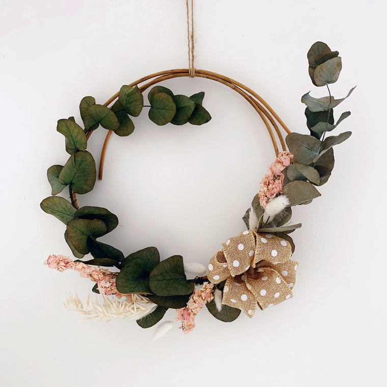 Dried Flower and Eucalyptus Rustic Wreath