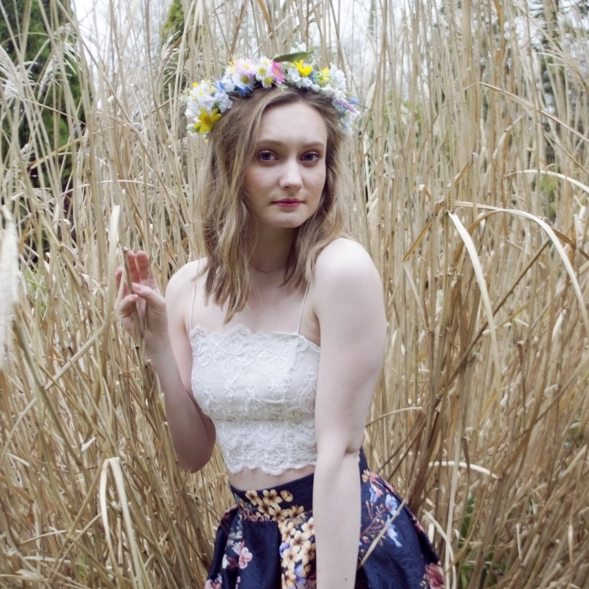 spring wildflower crown