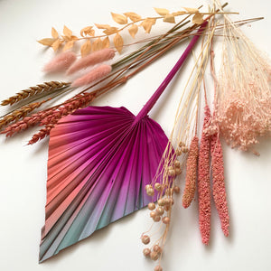 Fuchsia sunset dried flowers