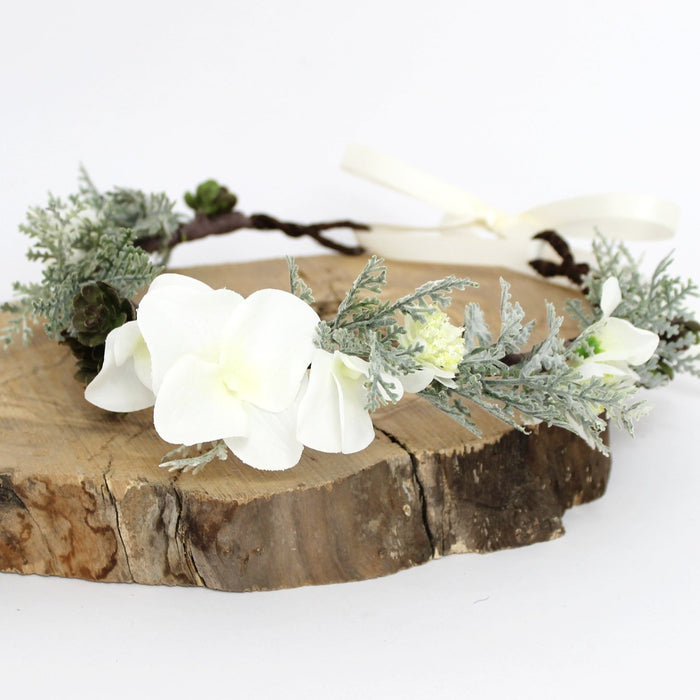 flower crown with greenery