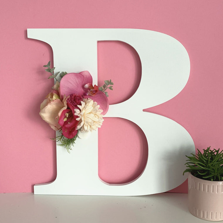 Wall Letter with Flowers PRE-ORDER ONLY
