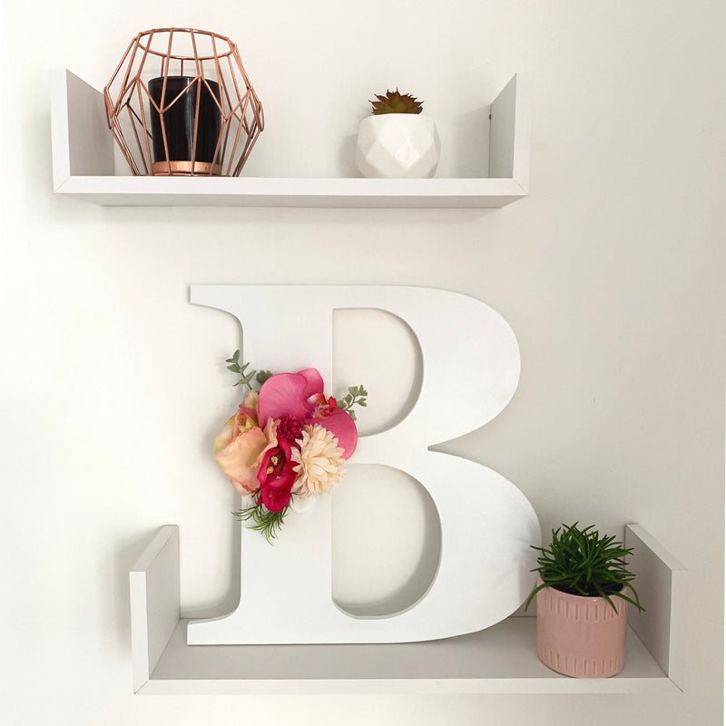 Floral letter for wall