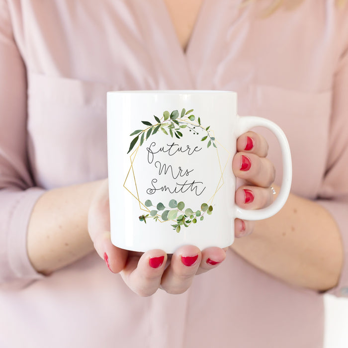 Personalised Future Mrs Botanical Mug