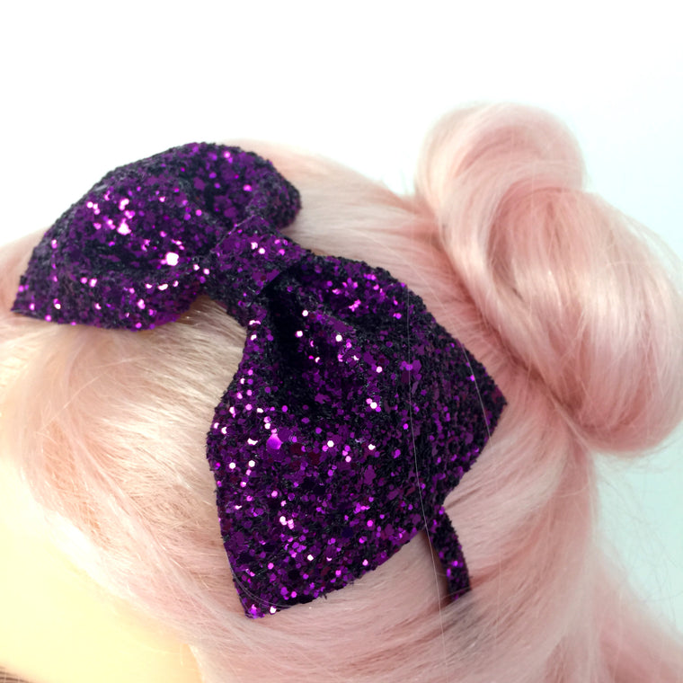 Glitter Bow Headband - many colours