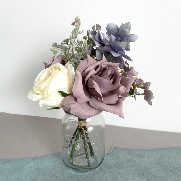 Artificial Flowers in Vase Grey 32cm