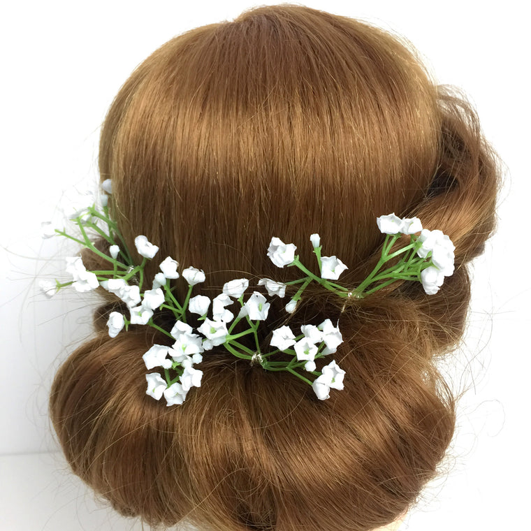 ORLA Gypsophila hair pins wedding