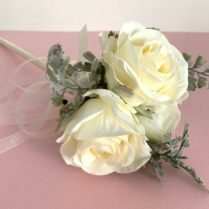 ivory flower girl wand