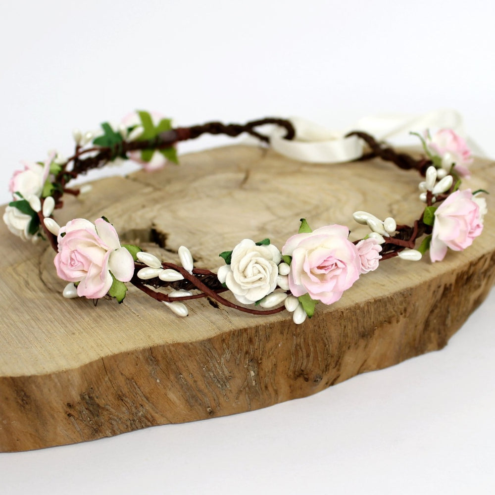 Load image into Gallery viewer, pink flower crown