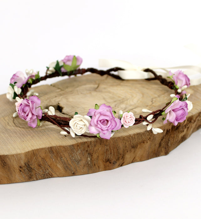 Boho Wedding Flower Crown
