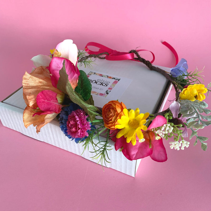 Make your own flower crown kit wild flowers