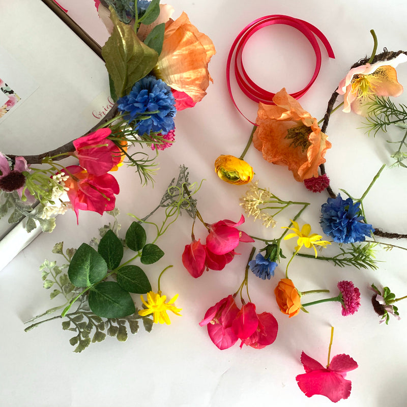 DIY flower crown kit wild flowers bachelorette party