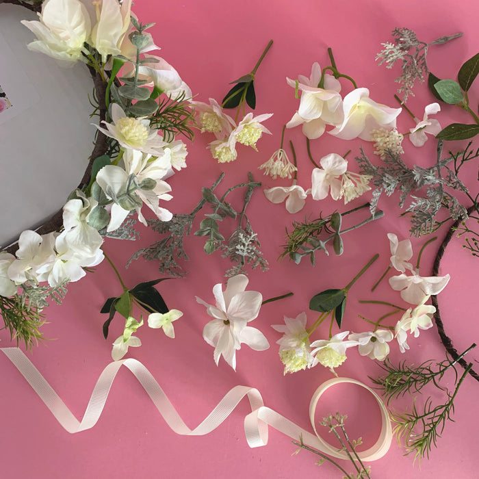 DIY Flower crown kit white