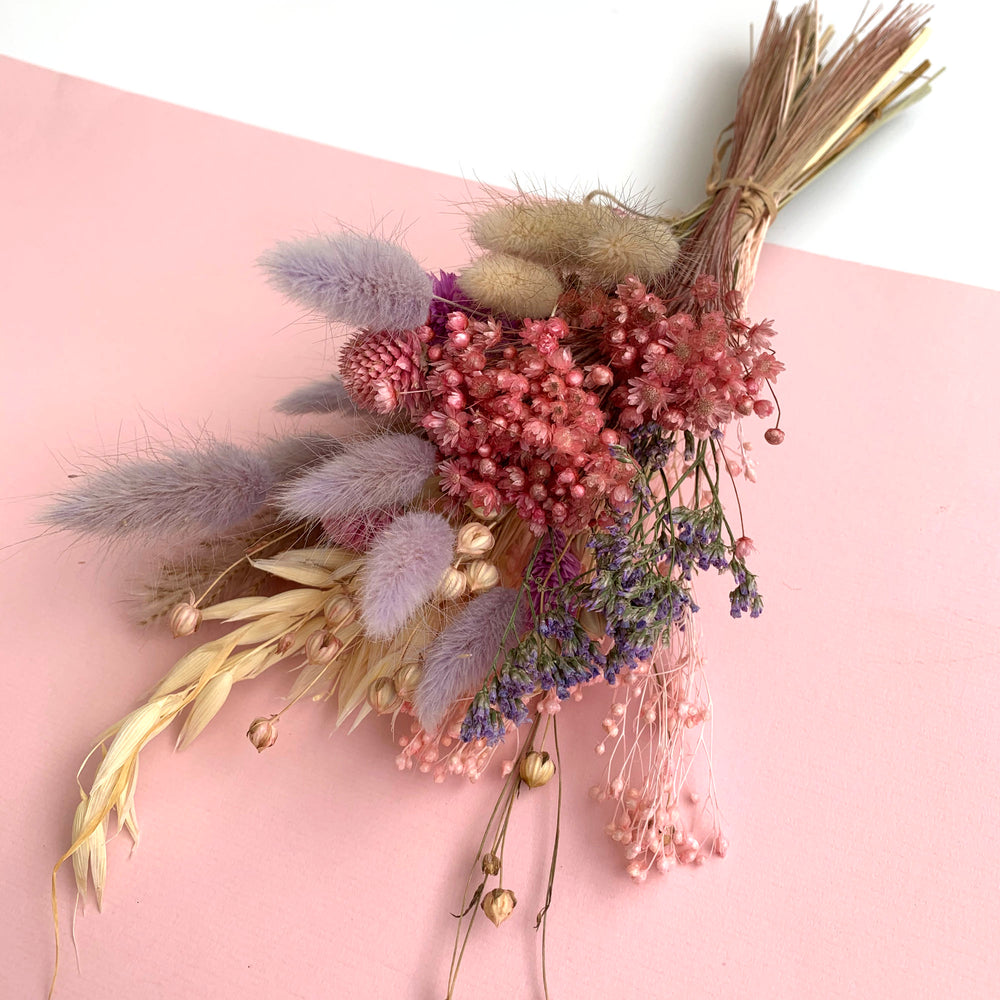 Load image into Gallery viewer, Lavender garden MINI dried flower bouquet
