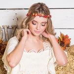 fall flower crown for wedding