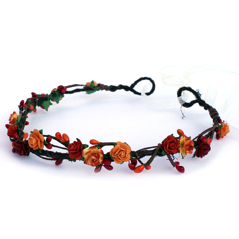 Autumn Fall flower crown