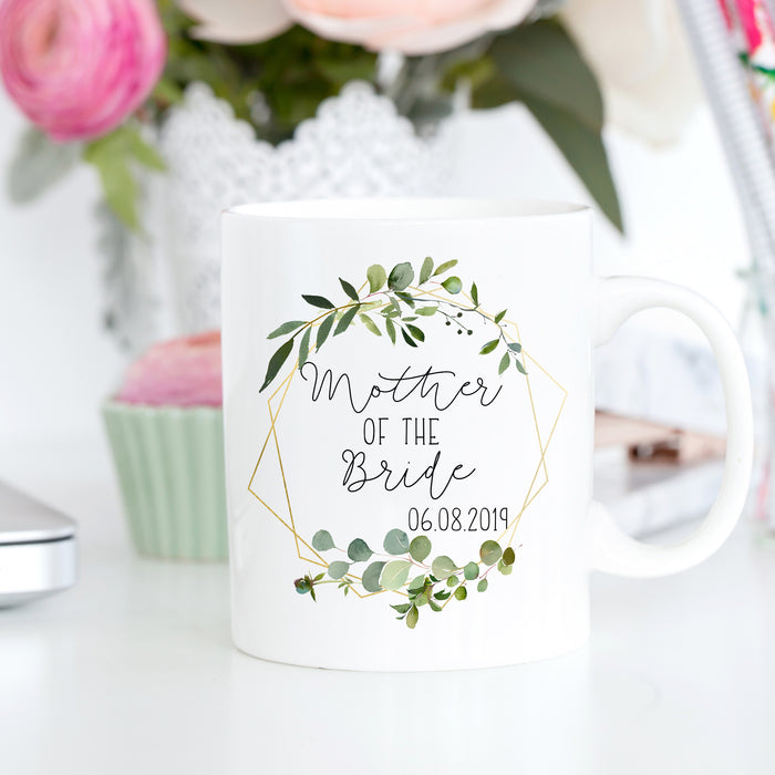 mother of the bride wedding gift mug