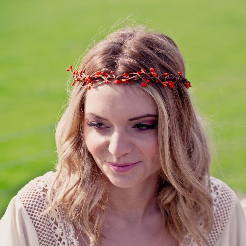 pip berry headband boho wedding