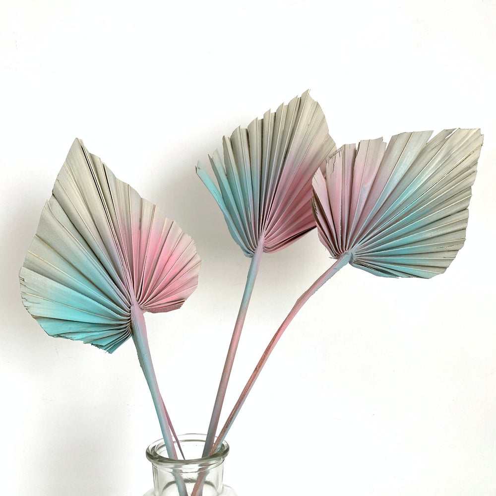 Load image into Gallery viewer, Pastel Pinks Dried Palm Spears x 3