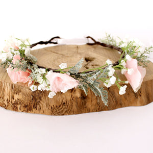 Load image into Gallery viewer, gypsophila flower crown for wedding