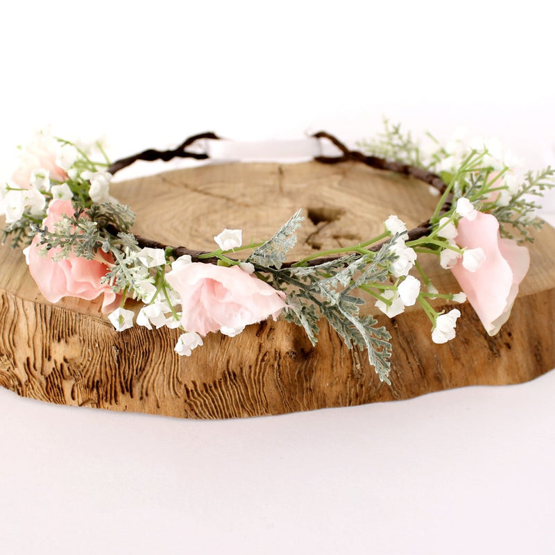 gypsophila flower crown for wedding