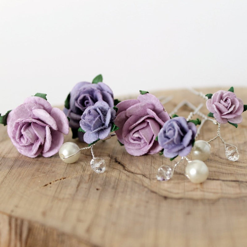 lavender lilac mix hair pins