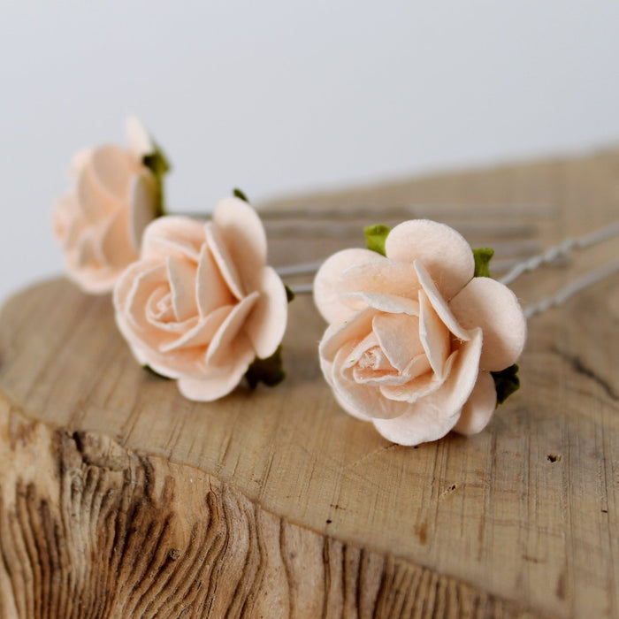 ROBERTA Large Rose Hair Pins
