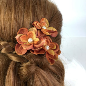 Burnt Orange Autumn Hair pins