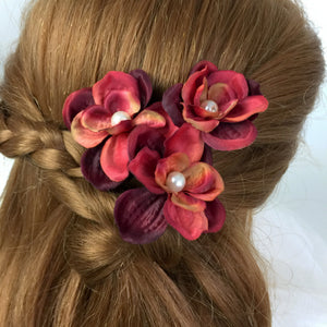 Deep red Fall Hair Accessories
