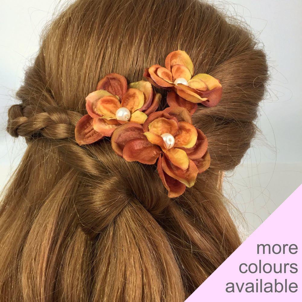 autumn rustic wedding hair pins