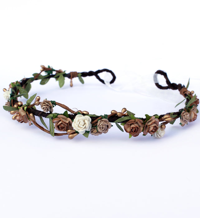 coffee floral crown