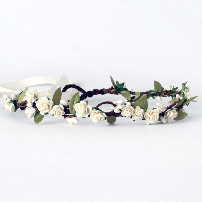 ivory flower crown