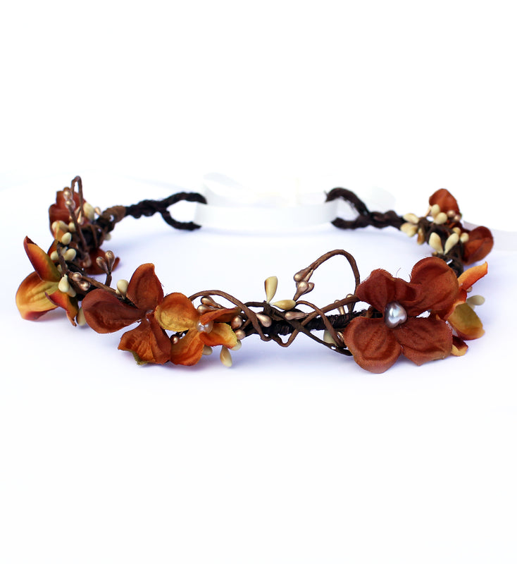 autumn floral crown