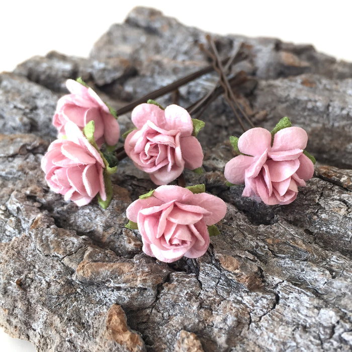 pink flower hair grips uk